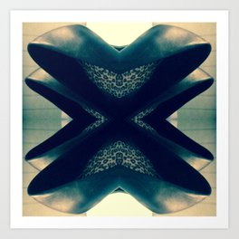Hearts Noir Art Print