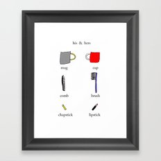 his & hers Framed Art Print