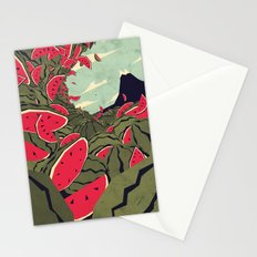 Watermelon surf dream Stationery Cards