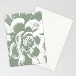 Sage Green Succulent Print Stationery Cards