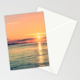 Pastel Sunset Calm Blue Water Stationery Cards