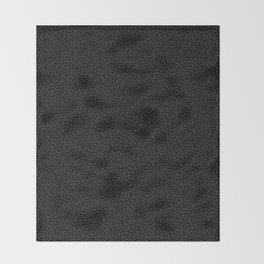 Subtle Black Panther Leopard Print Throw Blanket