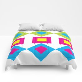 Colorful Nested Diamonds & Squares Comforters