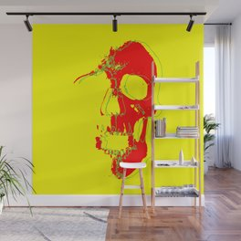 Skull - Red Wall Mural