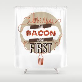 Words of love - Bacon Shower Curtain