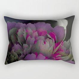 Indigo Flower Rectangular Pillow