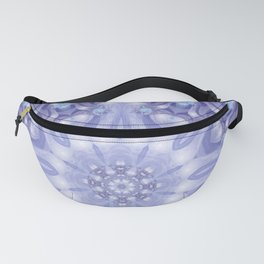 Light Blue, Lavender & White Floral Mandala Fanny Pack