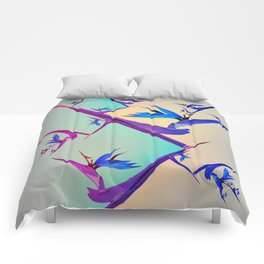 Impossible Floral Paradise 1 Comforters