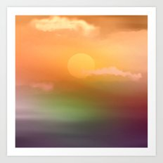 Sunrise  and sky. Art Print
