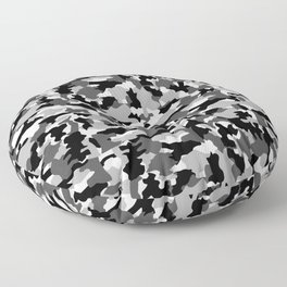 black and white Background Pattern Camo Floor Pillow