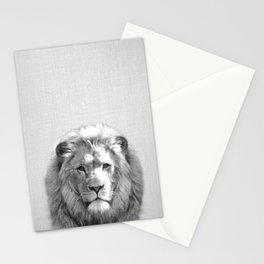 Lion - Black & White Stationery Cards