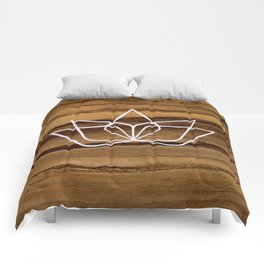 Soul Catalyst Wood Logo Comforters