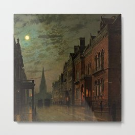 Park Row, Leeds, England by John Atkinson Grimshaw Metal Print