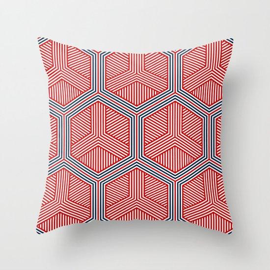 Hexagon No. 2 Throw Pillow