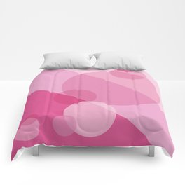 Pink Spheres Abstract Comforters