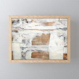 Wood planks shipboard repairing Framed Mini Art Print