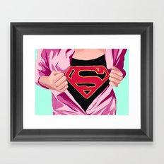 Girl, you're super Framed Art Print