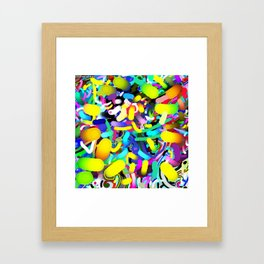 Cryptic glow arrival Framed Art Print