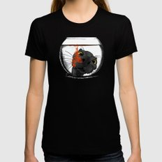 Color Drop Womens Fitted Tee Black LARGE