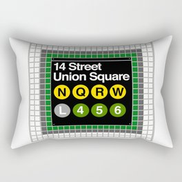 subway union square sign Rectangular Pillow