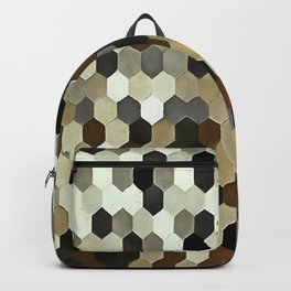Honeycomb Pattern In Neutral Earth Tones Backpack