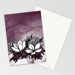 Flower Tangle Stationery Cards