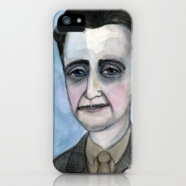 "George Orwell Portrait, ""The Road to Orwellian"" iPhone Case"