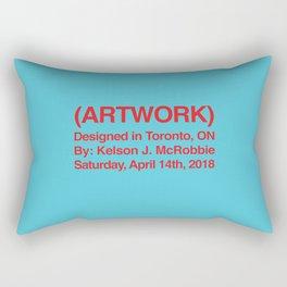 (ARTWORK) Teal Rectangular Pillow