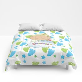 Baby Feet Angel Blessing Comforters