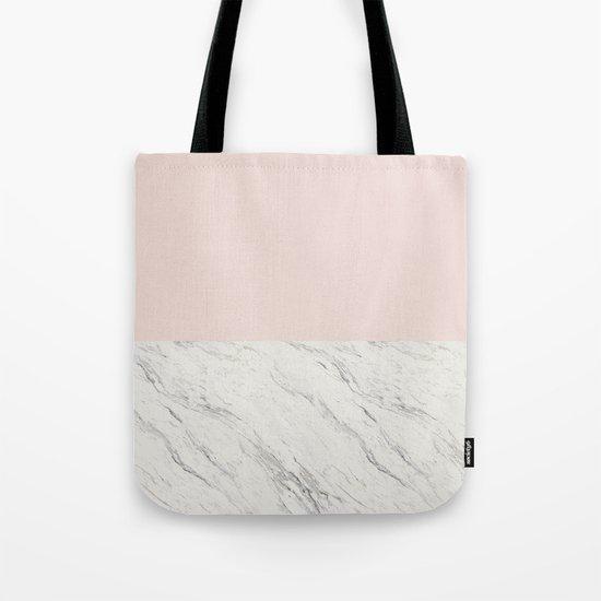 Moon Marble Tote Bag