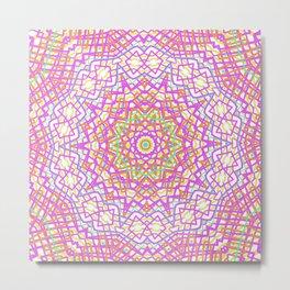 Bubblegum Mandala Metal Print
