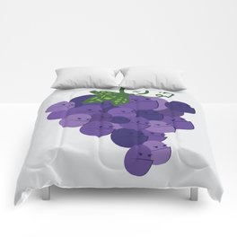 Grumpy Grapes // Alternatively Grapes of Wrath Comforters