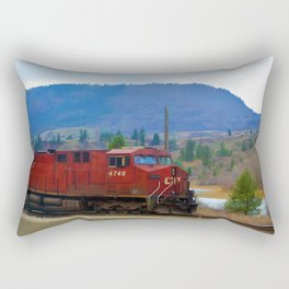 The Columbia Line Train Run Rectangular Pillow