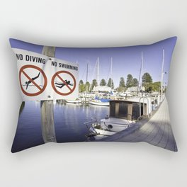 The Wharf No Diving, No Swimming Rectangular Pillow