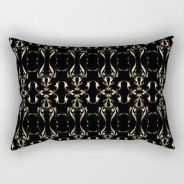 Gold Ornaments Pattern Rectangular Pillow