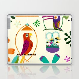 Vintage Modern Tiki Birds Laptop & iPad Skin