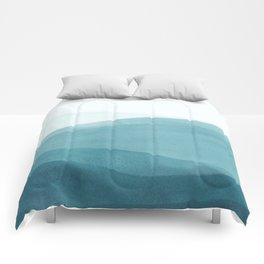 Watercolor Sea | Dip Dye Blues Comforters