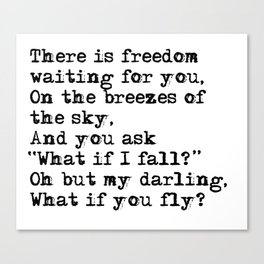 What if you fly? Vintage typewritten Canvas Print