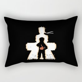 Ninja Silhouette Rectangular Pillow