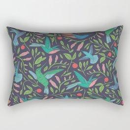 Hummingbirds and Hibiscus Tropical Pattern Rectangular Pillow
