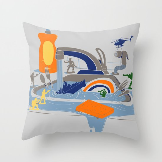 Sink Sank Sunk Throw Pillow