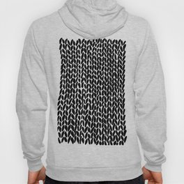 Hand Knitted Black S Hoody