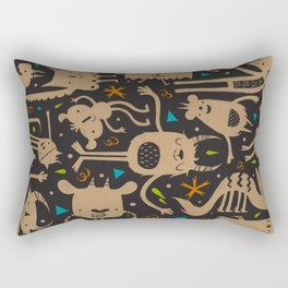Topsy Turvy - Dark Rectangular Pillow