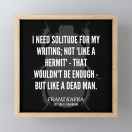 32  |  Franz Kafka Quotes | 190517 Framed Mini Art Print