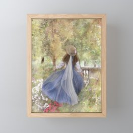 A Stroll in the Garden Framed Mini Art Print