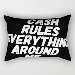 Cash Rules CREAM Rectangular Pillow