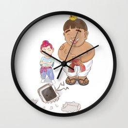 Eatalot and Red Wall Clock