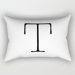 Letter T Typewriting Rectangular Pillow