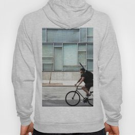Cyclist riding in New York City Hoody