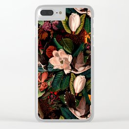 FLORAL AND BIRDS XIV Clear iPhone Case